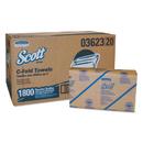 Scott KCC03623 C-Fold Paper Towels, Convenience Pack, 10 1/8 X 13 3/20, White, 200/pack