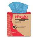 Wypall 33570 Oil, Grease and Ink Cloths, POP-UP Box, 8 4/5 x 16 4/5, Blue, 100/Box, 5/Carton