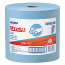 WypAll KCC34965 X60 Wipers, Jumbo Roll, 12 1/2 X 13 2/5, Blue, 1100/roll