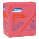 WypAll KCC41029 X80 Wipers, 1/4-Fold, Hydroknit, 12 1/2 X 13, Red, 50/box, 4 Boxes/carton