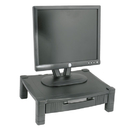 KANTEK INC. KTKMS420 Height-Adjustable Stand With Drawer, 17 X 13 1/4 X 3 To 6 1/2, Black