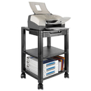 KANTEK INC. KTKPS540 Mobile Printer Stand, Three-Shelf, 17w X 13-1/4d X 24-1/4h, Black