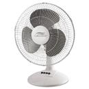 Lakewood LAKLDF1210BWM 12-Inch Three-Speed Oscillating Desk Fan, Metal/plastic, White