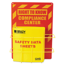 LabelMaster LMTH121370 Sds Compliance Center, 14 X 20, Yellow/red