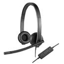 Logitech LOG981000574 Usb H570e Over-The-Head Wired Headset, Binaural, Black