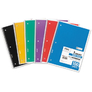 Mead MEA05514 Spiral Bound Notebook, Perforated, Legal Rule, 10 1/2 X 8, White, 100 Sheets
