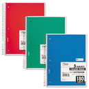 MEAD PRODUCTS MEA05682 Spiral Bound Notebook, Perforated, College Rule, 8 X 10 1/2, White, 180 Sheets