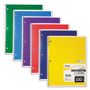 Mead MEA06622 Spiral Bound Notebook, Perforated, College Rule, 8 1/2 X 11, White, 100 Sheets