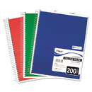 Mead MEA06780 Spiral Bound Notebook, Perforated, College Rule, 8 1/2 X 11, White, 200 Sheets