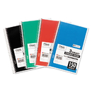 Mead MEA06900 Spiral Bound Notebook, Perforated, College Rule, 6 X 9 1/2, White, 150 Sheets