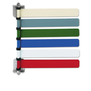 Medline MIIOMD291716 Room Id Flag System, 6 Flags, Primary Colors