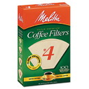 Melitta 624602 Coffee Filters, Natural Brown Paper, Cone Style, 8 to 12 Cups, 1200/Carton