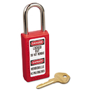 Master Lock MLK411RED Lightweight Zenex Safety Lockout Padlock, 1 1/2