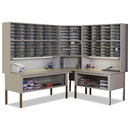 MAYLINE COMPANY MLNTB60PG Mailflow-To-Go Mailroom System Table, 60w X 30d X 36h, Pebble Gray