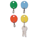 MMF INDUSTRIES MMF2018009W47 Oval Snap-Hook Key Tags, Plastic, 1 1/2 X 1 1/2, Assorted, 20/pack