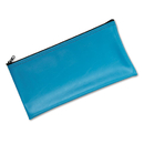 Mmf Industries MMF2340416W38 Leatherette Zippered Wallet, Leather-Like Vinyl, 11w X 6h, Marine Blue