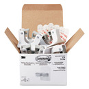Command MMM17007S6NA Broom Gripper, 3.12 x 1.85 x 3.34, White/Gray, 6 Grippers/16 Strips/Pack