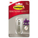 Command 17051BN-ES Decorative Hooks, Traditional, Medium, 1 Hook & 2 Strips/Pack