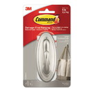 Command 17053BN-ES Decorative Hooks, Traditional, Large, 1 Hook & 2 Strips/Pack