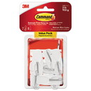 Command 17065-7ES General Purpose Wire Hooks, Medium, 2 lb Cap, White, 7 Hooks and 8 Strips/Pack