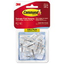 Command 17067CLR-9ES Clear Hooks & Strips, Plastic/Wire, Small, 9 Hooks w/12 Adhesive Strips per Pack