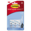 Command 17067CLR-ES Clear Hooks & Strips, Plastic/Wire, Small, 3 Hooks & 4 Strips/Pack