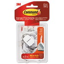 Command 17067-MPES General Purpose Hooks, Small, 0.5 lb Cap, White, 28 Hooks and 32 Strips/Pack