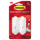 Command 17068ES General Purpose Wire Hooks, Medium, 3 b Cap, White, 2 Hooks and 4 Strips/Pack