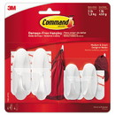 Command 17081-2VPES General Purpose Designer Hooks, Small/Medium, 3 lb Cap, White, 4 Hooks and 4 Strips/Pack