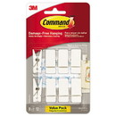 Command 17089Q-8ES Spring Hook, 3/4w x 5/8d x 1 1/2h, White, 8 Hooks/Packs