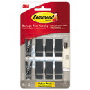 Command 17089S-8ES Spring Hook, 5/8w x 3/4d x 1 1/2h, Slate, 8 Hooks/Packs