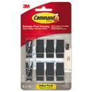 Command 17089S-8ES Spring Hook, 5/8w x 3/4d x 1 1/2h, Slate, 8 Hooks/Packs