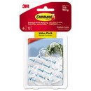 Command 17091CLR-6ES Clear Hooks and Strips, Plastic, Medium, 6 Hooks and 12 Strips/Pack