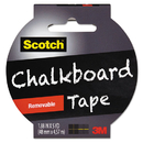 Scotch MMM1905RCBBLK Chalkboard Tape, 1.88