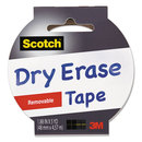 Scotch MMM1905RDEWHT Dry Erase Tape, 1.88