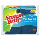 3M MMM526 Non-Scratch Multi-Purpose Scrub Sponge, 4 2/5 X 2 3/5, Blue, 6/pack