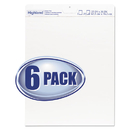Highland 540-6PK Easel Pad, Unruled, 25 x 30, 30 Sheets/Pad, 6 Pads/Pack