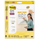 Post-It MMM566PRL Self-Stick Wall Easel Primary Ruled Pad, 20