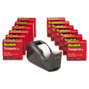 3M/COMMERCIAL TAPE DIV. MMM600KC60 Transparent Tape Dispenser Value Pack, 1