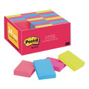 Post-it Notes 65324ANVAD Original Pads in Cape Town Colors, 1 3/8 x 1 7/8, Plain, 100-Sheet, 24/Pack