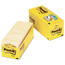 3M/COMMERCIAL TAPE DIV. MMM65418CP Original Pads In Canary Yellow, Cabinet Pack, 3 X 3, 90-Sheet, 18/pack