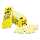 3M/COMMERCIAL TAPE DIV. MMM65424SSCP Canary Yellow Note Pads, 3 X 3, 90-Sheet, 24/pack