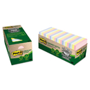 3M/COMMERCIAL TAPE DIV. MMM654R24CPAP Greener Note Pad Cabinet Pack, 3 X 3, Assorted Helsinki Colors, 75-Sheet, 24/pk