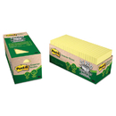 3M/COMMERCIAL TAPE DIV. MMM654R24CPCY Greener Note Pad Cabinet Pack, 3 X 3, Canary Yellow, 75-Sheet, 24/pack