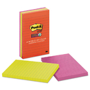 Post-It MMM6603SSAN Pads In Marrakesh Colors, Lined, 4 X 6, 90-Sheet, 3/pack