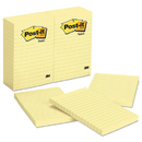 3M/COMMERCIAL TAPE DIV. MMM660YW Original Pads In Canary Yellow, Lined, 4 X 6, 100-Sheet, 12/pack
