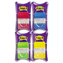 Post-It MMM686RALY File Tabs, 1 X 1 1/2, Aqua/lime/red/yellow, 100/pack