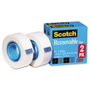 3M/COMMERCIAL TAPE DIV. MMM8112PK Removable Tape 811 2pk, 3/4