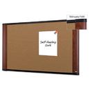 3M/COMMERCIAL TAPE DIV. MMMC4836MY Cork Bulletin Board, 48 X 36, Aluminum Frame W/mahogany Wood Grained Finish
