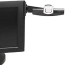 3M/COMMERCIAL TAPE DIV. MMMDH240MB Swing Arm Copyholder, Adhesive Monitor Mount, Plastic, 30 Sheet Capacity, Black